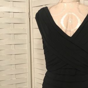 Tadashi Body Hugging Bandage Midi Dress